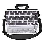 MySleeveDesign Laptoptasche Notebooktasche Umhängetasche Größe 15,6 Zoll und 17,3 Zoll - mit VERSCH. DESIGNS [17]-Keyboard [17]