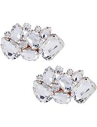 Clips de Zapatos Decoraciones para mujer zapatos de boda de vestir Accesorios Cristales zapato Clips 1 Par
