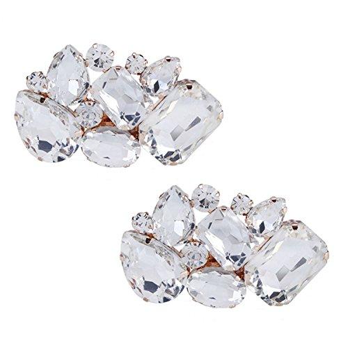 Clips de Zapatos Decoraciones para mujer zapatos de boda de vestir Acc