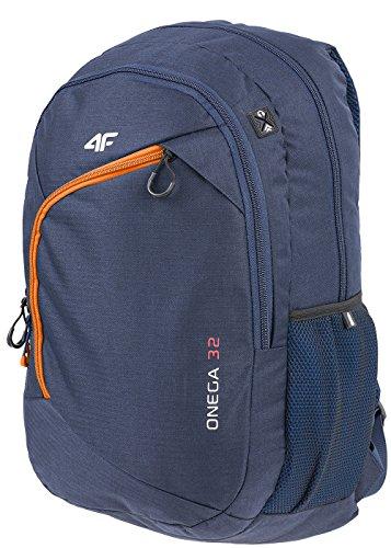 4F Rucksack Schulrucksack mit Laptopfach Groß Kapazität 32L Wandern PCU008 SS17 (, ) Dunkelblau