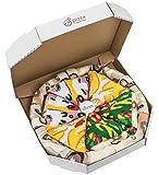 PIZZA SOCKS BOX - Pizza MIX Hawaïenne Italienne Capriciosa - 4 paires de Chaussettes FANTAISIE Uniques et Originales - CADEAU Drôle en COTON! |pour Fammes et Hommes, UE: 36-40, 41-46|Made in Europe