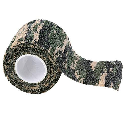 NUOBU - GLQ 3 STÜCKE Camouflage Tape - Elastische Wasserdichte Outdoor Jagd Camping Unsichtbare Wrap Tape Jagdwerkzeug Durable - Geeignet füR Waffen, Oszilloskope, FerngläSer, Wiederverwendbar