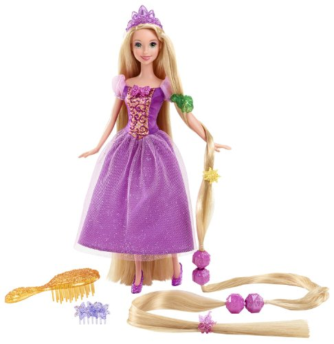 Princess Disney Blonde (Mattel Disney Princess Y0973 - Märchenhaar Rapunzel,)