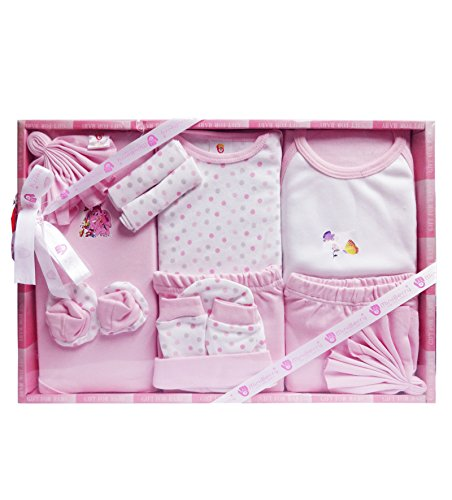 WonderKids Baby Gift Set (Pink)- 13 Pieces