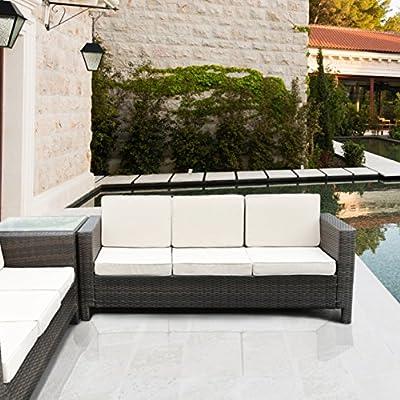 luxurygarden Sofa 3Sitzer Polyrattan Lounge-Möbel Garten Afef von LuxuryGarden auf Gartenmöbel von Du und Dein Garten