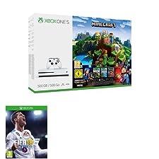 Xbox One S 500GB Console: Minecraft Complete Adventure Bundle + FIFA 18