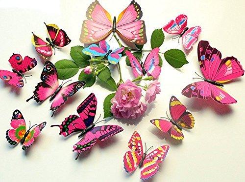 Domire 12pcs 3d mariposa pegatinas hacer pegatinas pared pegatinas manualidades mariposas, color estilo 1