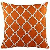 43 x 43 cm diseño geométrico diseño de phyllida coroneo naranja diseño de rombos quien hablará cojín funda de almohada - para sofá incluye funda cojín regalo diseño con texto en inglés