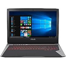 """ASUS G752VS-GC018T - Ordenador portátil de 17.3"""" FullHD (Intel Core i7-6700HQ, 16 GB de RAM, HDD de 1 TB, 256 GB SSD, NVIDIA G-SYNC GeForce GTX1070 8GB, Windows 10 Original), gris y negro - Teclado QWERTY Español"""