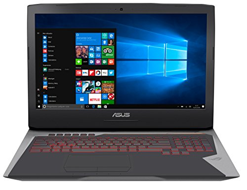 ASUS ROG G752VS(KBL)-BA263T - Ordenador portátil de 17.3' Full HD 120 Hz (Intel Core i7-7700HQ, 16 GB RAM, 1 TB HDD + 256 GB SSD, NVIDIA GeForce GTX1070 de 8 GB, Windows 10 Home) gris, QWERTY español