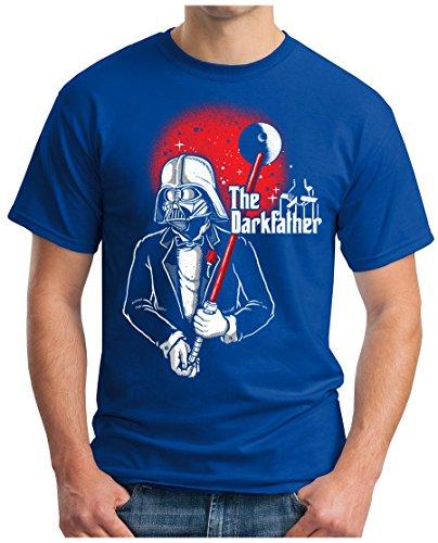 OM3 - THE-DARKFATHER - T-Shirt GEEK, S - 5XL Royalblau