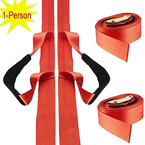 Pawaca 1- Person Lifting and Moving Straps, Easily to Carry Furniture/ Refrigerator/ Appliance/ Mattress/ Heavy Objects, with over the Shoulder Lifting Aid Belt