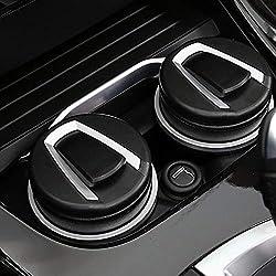 Schwarz Portable LED Aschenbecher f/ür Auto Schwarz Aschenbecher mit Deckel Zylinder Zigarette Aschenbecher mit abnehmbarer Aufbewahrungsbox