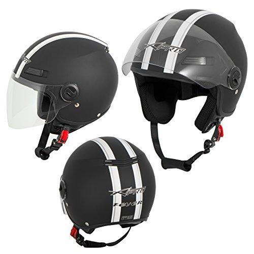 Casco jet scooter moto quad omologato ece 22 05 visiera nero opaco l