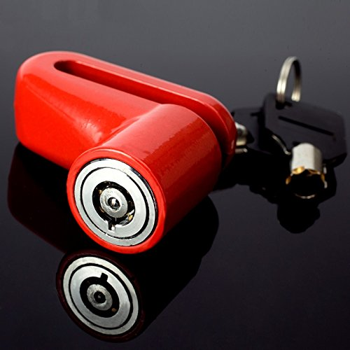 2x Scooter Bike Motorrad Fahrrad Sicherheit Anti Diebstahl Bremse, Vorhängeschloss Rotor Lock