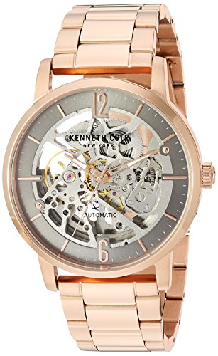 Kenneth Cole New York Men's Automatic Stainless Steel Casual Watch, Color:Rose Gold-Toned (Model: KC50054003)