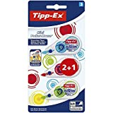 Tipp-Ex Mini Pocket Mouse Korrekturroller–Farben Fashion sortiert, Blister 3-
