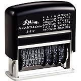 Shiny S-312 Dial-a- - Sello automático con texto y fecha (12 palabras, tamaño de letra 3,8 mm)
