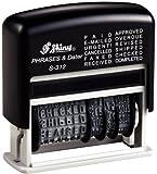 Shiny-S S-312 - Timbro datario Dial-a-Phrase, autoinchiostrante, altezza lettere e numeri 3,8 mm, spazio per 12 parole