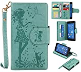 Cozy Hut Sony Xperia Z3 Schutzhülle, [9 Card Slots] PU Leder Flip Wallet Case Leder Tasche Bumper Stand Funktion Kartenfächer Magnet Closure HandyHülle für Sony Xperia Z3 - grün