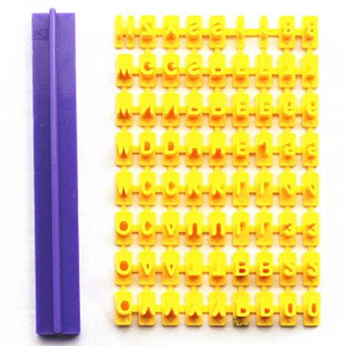 JoyFan Kunststoff Cute Alphabet Zahl Buchstabe Kuchen DIY Form für Drücken Stempel Ausstechformen Mould Dekorieren Tool gelb (Drücken Dekorieren Kuchen)