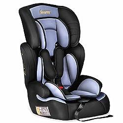 Besrey® 3 in 1 Autokindersitz Autositz Kinderautositz 9-36 kg Gruppe 1 2 3 nach ECE R44/04 - Schwarz&Grau