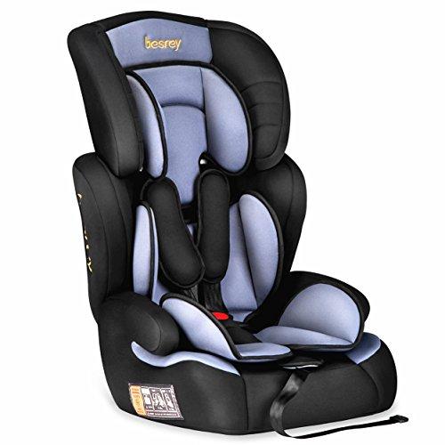Besrey silla de coche para bebe Grupo 1 2 3 tres en uno silla coche 9 a 36 kg - 9 meses a 12 years Normativa Europea ECE …