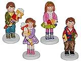 3-D Figur Mädchen mit Rucksack 9,5 cm - Tischdeko aus Kunstharz zur Schuleinführung Einschulung Schultüte Zuckertüte Schulanfang Deko