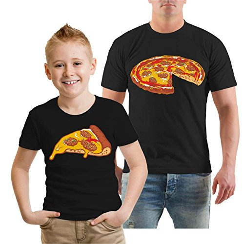Partnershirt Vater & Sohn Familien Outfit Pizza