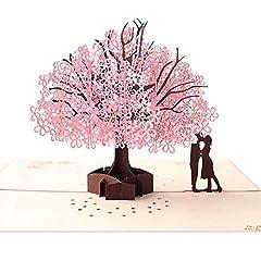 Idea Regalo - Biglietto d'Auguri Matrimonio d'Amore per Compleanno Romantico Anniversario Nozze Carta 3D Pop-up (A)