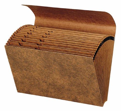 Globe-Weis Letha-Tone Fächermappe mit Klappe, 21 Fächer, A-Z, Rechtsgröße, braun (1919A) (21 Pocket-datei-ordner)
