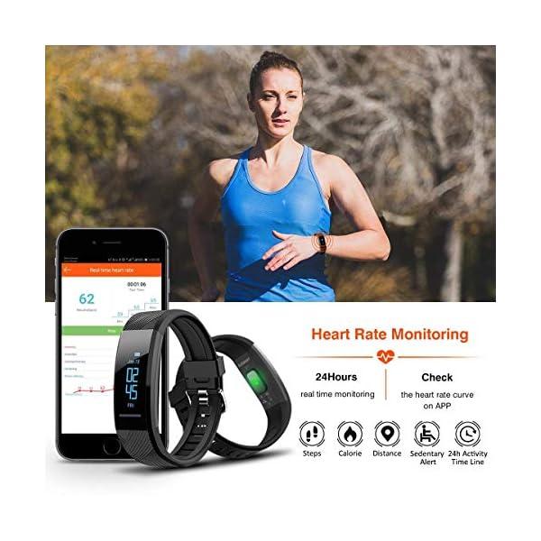 ELEGIANT Pulsera de Actividad Inteligente Reloj Deportivo IP67 para Hombre Mujer con GPS Monitor de Sueño Podómetro… 3