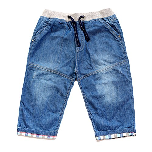Zhuhaitf Gute Qualität Children's Boys Summer Casual Drawstring Denim Shorts (Denim-shorts Drawstring)