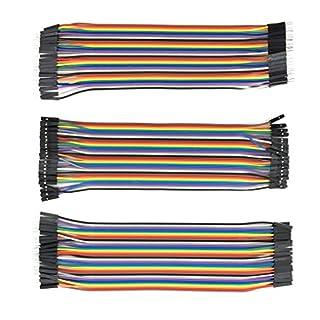 AptoFun Câble de raccordement 3 en 1 pour Arduino et Raspberry pi (3 en 1 mâle/Femelle/mâle)