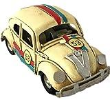 Modellauto Metall Blechauto Herbie-Look Nr. 53 beige 11x5x5 cm Handarbeit Metall Retro Shabby Vintage Nostalgic-Art