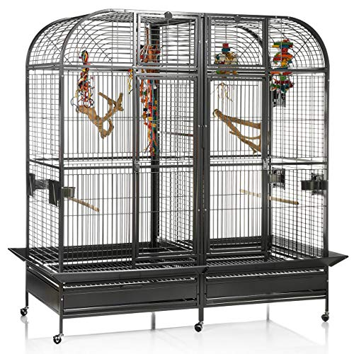 Montana Cages ®   Papageienvoliere XXL Los Angeles - in Antik 183 x 85cm reines Papageienkäfig Maß