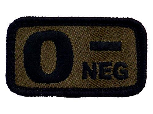 stickt mit Klett oliv Bundeswehr Blood Type (0-) ()