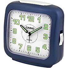 Casio Collection Alarm Clock Quartz Analogue Black Leather Strap TQ-359-2EF