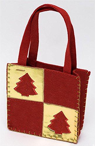 Weihnachtliche Filzgeschenktaschen in verschiedenen Farben (rot gold)