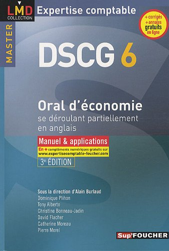 Oral d'économie se déroulant partiellement en anglais DSCG 6 : Manuel & applications