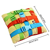 Buckle Toy Toddler Early Learning Toy Children's Plush Toy (Colorful)