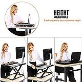 Modrine Höhenverstellbar Laptoptisch Computertisch Sitz-Steh-Schreibtisch Stehtisch Bürotisch Schreibtischaufsatz Steharbeitsplatz Standtisch (Tisch Höhenversellbar)