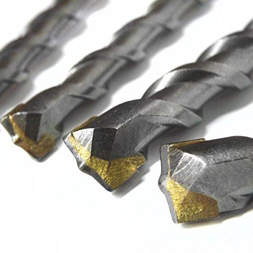 S&R Hammerbohrer SDS-Bohrer-Set, Betonbohrer SDS Plus 6-tlg : 5,6,8 x 110mm; 6, 8, 10 x 160 mm in Kunststoffbox für Beton,Granit, Stein. Bohrer für Bohrhammer und Schlag-Bohrmaschine - 3