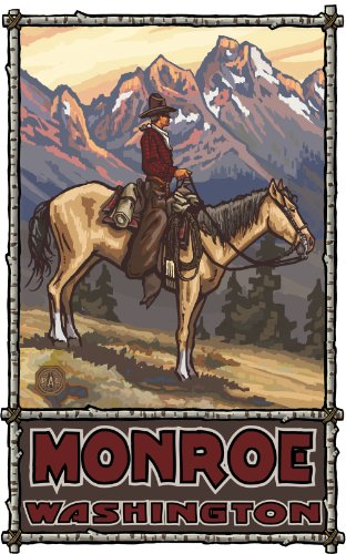 Northwest Art Mall Monroe Washington, Summer Cowboy, ungerahmt, 28 x 43 cm