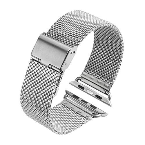 kashyk Kompatibel mit Apple Watch Armband 38mm/40mm,Solid Edelstahl Outdoor-Abenteuer Armbänder für Watch Series 4 3 2 1,Armband Metallarmband Unisex Edelstahl Metallarmband (Silber)