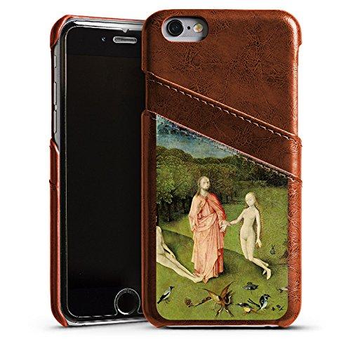 Apple iPhone 5 Housse Étui Silicone Coque Protection Le jardin d'Eden Adam et Ève Art Étui en cuir marron