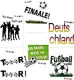 Unbekannt 1 Set _ große _ Fensterbilder -  Fußball  - Sticker Fenstersticker Aufkleber - selbstklebend + wiederverwendbar - Fensterbild / z.B. für Fenster und Spiegel..