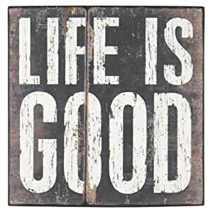 Pacific Home Wooden Canvas Life is Good Painted on Wall Art