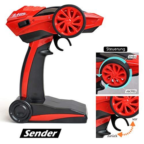 RC Auto kaufen Crawler Bild 6: Maximum RC Ferngesteuertes Auto für Kinder - 4WD Monstertruck - XL RC Auto für Kinder ab 8 Jahren - Rock Crawler (rot)*