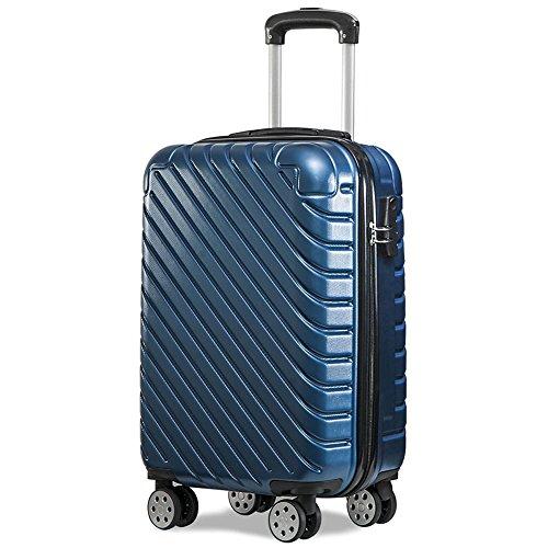 Valise ABS Résistant À l'usure Anti-Rayures Boîte À Bagages Roulette,Blue,28Inch